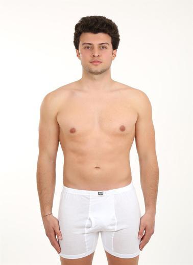 Akbeniz Erkek Paçalı Penye Boxer 40066 Beyaz